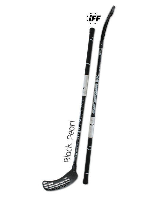 Floorballschläger in schwarz und weiß - Eurostick Black Pearl