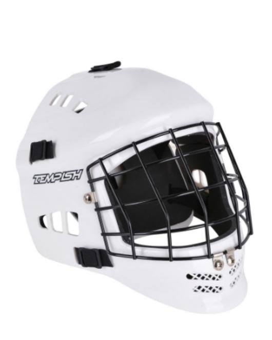 Floorball Torwart-Maske weiß